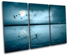 Moon Birds Sunset Seascape - 13-2215(00B)-TR32-LO